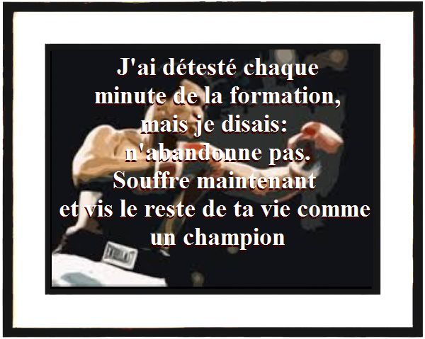 La meilleure citation de Mohamed Ali