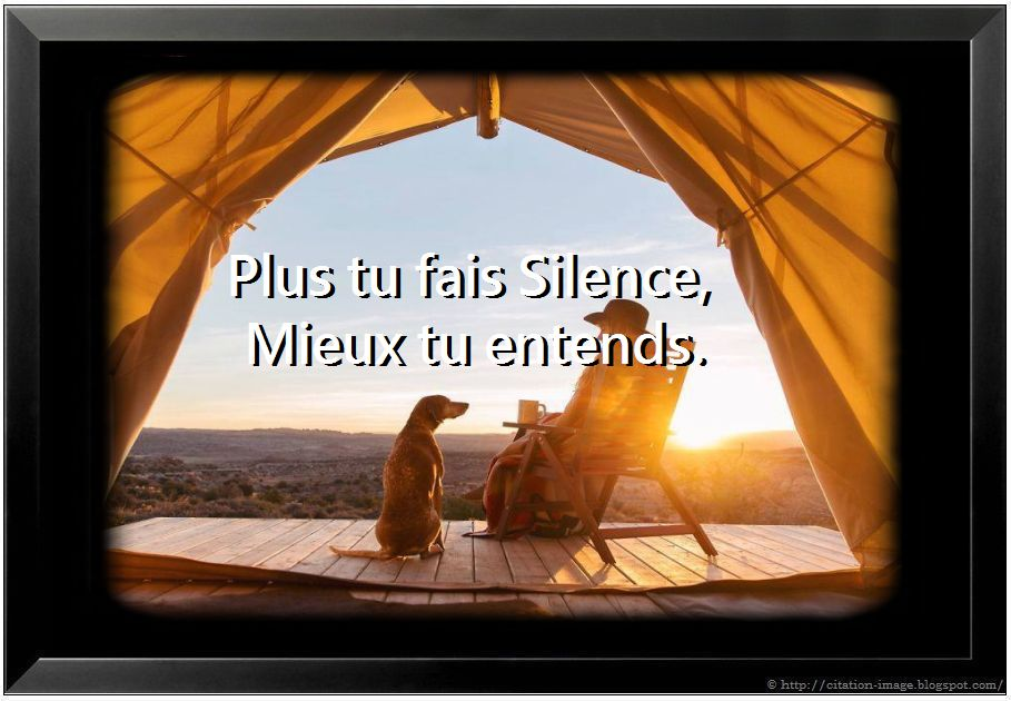 Citation en image sur le silence